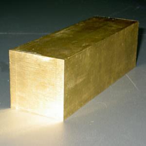 Квадрат латунный